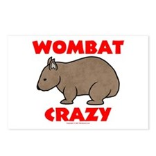 Wombat Crazy Postcards (Package of 8)