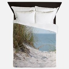 Cute Beach Queen Duvet