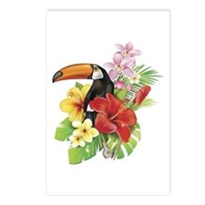 Toucan and Flowers Postcards (Package of 8)