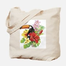 Toucan and Flowers Tote Bag