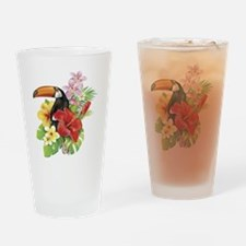 Toucan and Flowers Drinking Glass