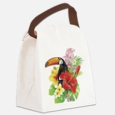 Toucan and Flowers Canvas Lunch Bag