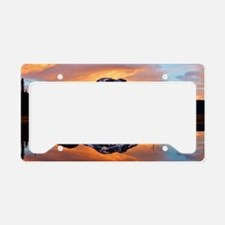 Sunset over 3 Sisters License Plate Holder