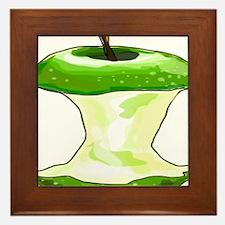 Green Apple Core Framed Tile