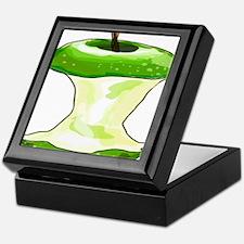 Green Apple Core Keepsake Box