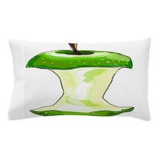Green Apple Core Pillow Case