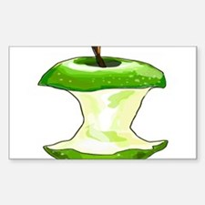 Green Apple Core Decal