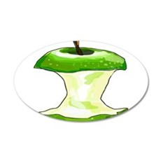 Green Apple Core Wall Decal