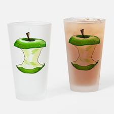 Green Apple Core Drinking Glass
