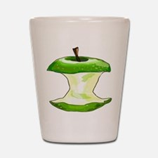 Green Apple Core Shot Glass