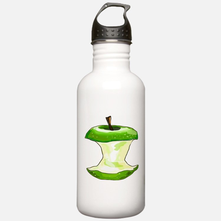 Green Apple Core Water Bottle