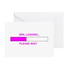 GIRL LOADING... Greeting Card