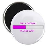 GIRL LOADING... Magnet
