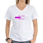 GIRL LOADING... Women's V-Neck T-Shirt