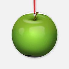 Green Apple Ornament (Round)