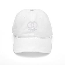White Double Women's Symbols Baseball Cap