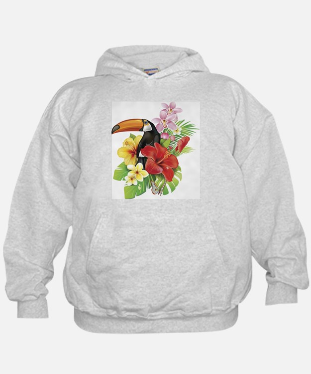 Toucan and Flowers Hoodie