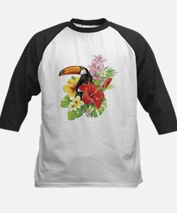 Toucan and Flowers Baseball Jersey