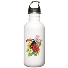 Toucan and Flowers Water Bottle