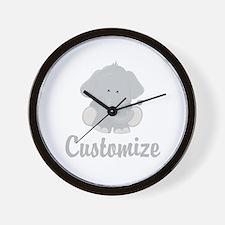 Baby Elephant Wall Clock