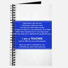 I will find you Do Work Properly Teacher Journal
