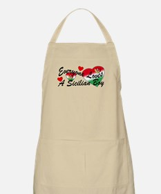 Loves a Sicilian Boy BBQ Apron