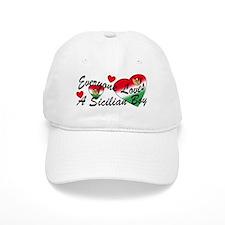 Loves a Sicilian Boy Baseball Cap