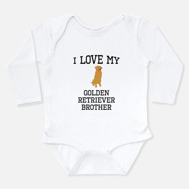 I Love My Golden Retriever Brother Body Suit