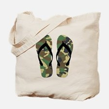 Camouflage Flip Flop Fun Summer Vacation Art Tote