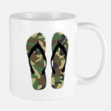 Camouflage Flip Flop Fun Summer Vacation Art Mugs