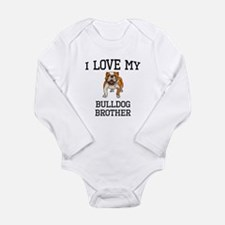 I Love My Bulldog Brother Body Suit