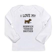 I Love My Norwich Terrier Brother Long Sleeve T-Sh