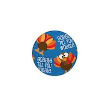Turkey Fall Mini Button
