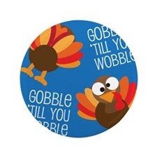 "Turkey Fall 3.5"" Button (100 pack)"