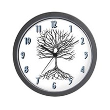 Tree of Life Clock White Wall Clock