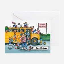 Female Bus Driver Greeting Cards (Pk of 20)