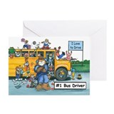 School bus Greeting Cards (20 Pack)