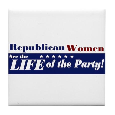 Republican Women Tile Coaster