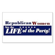 Republican Women Rectangle Decal