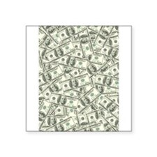 "Hundred dollar bill Square Sticker 3"" x 3"""