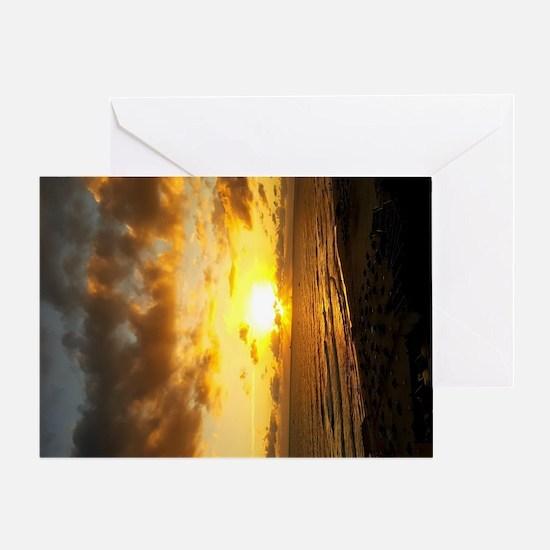 Unique Red sunrise Greeting Card