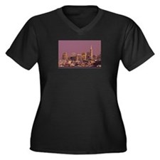 The City by the Bay Women's Plus Size V-Neck Dark