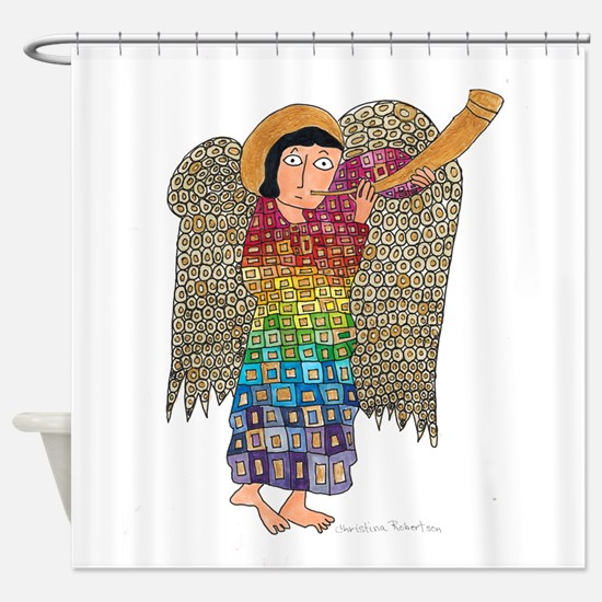 Rainbow Angel 2 Shower Curtain