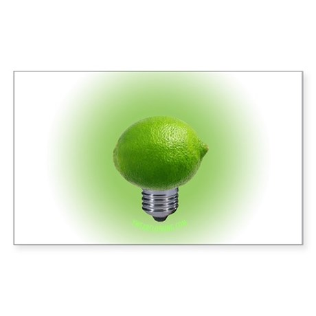 Lime Light Rectangle Sticker