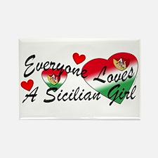 Loves a Sicilian Girl Rectangle Magnet
