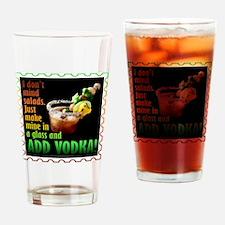 BLOODY MARY? ADD VODKA! Drinking Glass