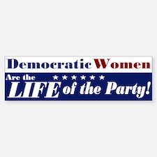 Democratic Women Bumper Car Car Sticker