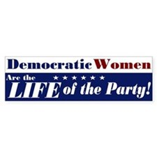 Democratic Women Bumper Car Sticker