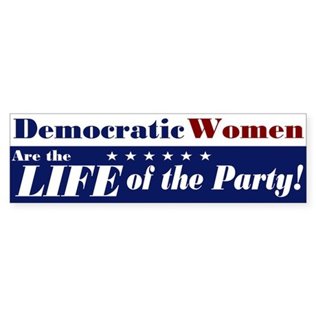 Democratic Women Bumper Sticker