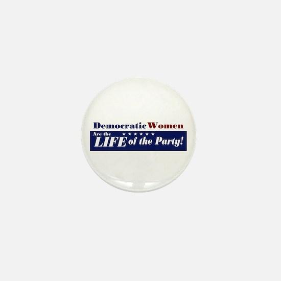 Democratic Women Mini Button